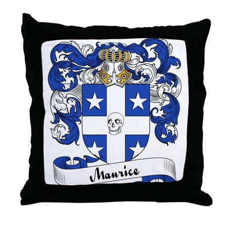 Maurice Family Crest Throw Pillow