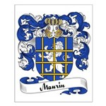 Maurin Family Crest Small Poster