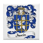 Maurin Family Crest Tile Coaster