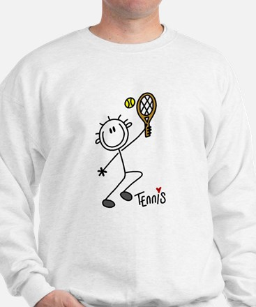 Stick Figure Tennis Sweatshirt