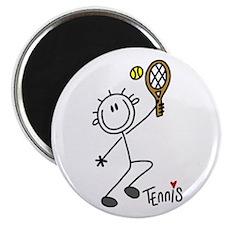 "Stick Figure Tennis 2.25"" Magnet (100 pack)"