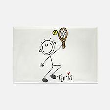 Stick Figure Tennis Rectangle Magnet