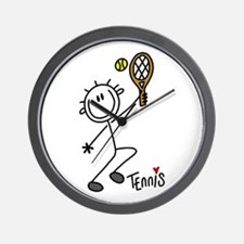 Stick Figure Tennis Wall Clock