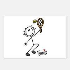 Stick Figure Tennis Postcards (Package of 8)