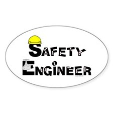 Safety Engineer Oval Sticker (10 pk)