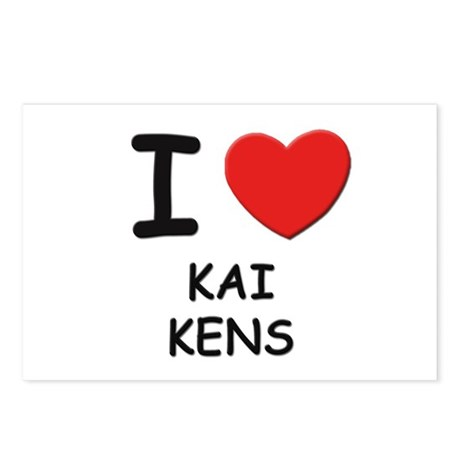 I love KAI KENS Postcards (Package of 8)