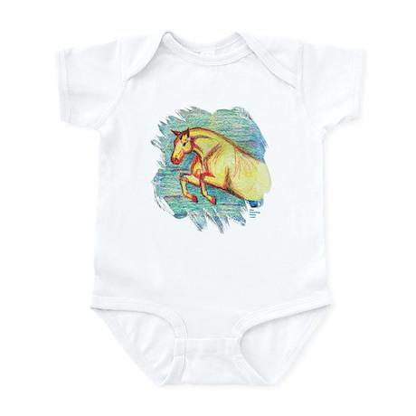 Jumper Horse Art Infant Bodysuit