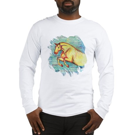 Jumper Horse Art Long Sleeve T-Shirt