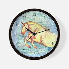 Jumper Horse Art Wall Clock