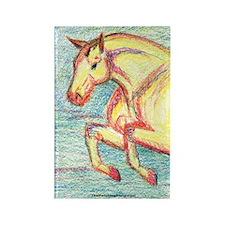 Jumper Horse Art Rectangle Magnet