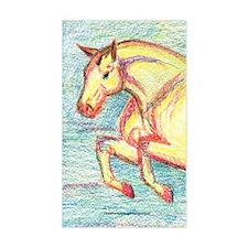 Jumper Horse Art Rectangle Decal