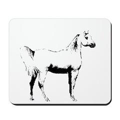 AFTM Arabian Horse Profile BW Mousepad