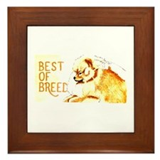 Best Of Breed Pomeranian Framed Tile