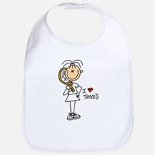 Girl I Love Tennis Bib