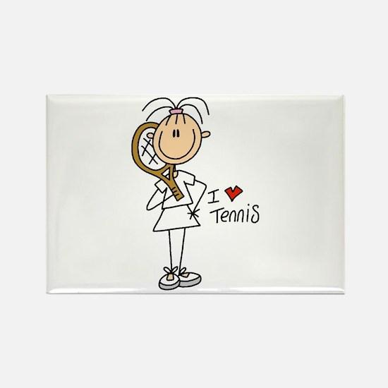 Girl I Love Tennis Rectangle Magnet