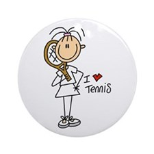 Girl I Love Tennis Ornament (Round)