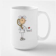 Girl I Love Tennis Large Mug
