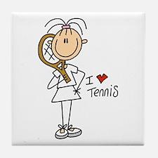 Girl I Love Tennis Tile Coaster