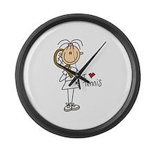 Girl I Love Tennis Large Wall Clock