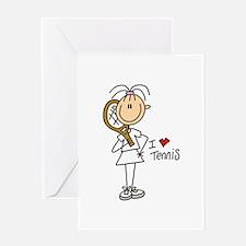 Girl I Love Tennis Greeting Card