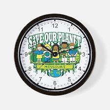 Earth Kids Missouri Wall Clock