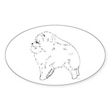 Pom Pup Profile Oval Decal