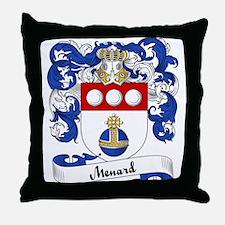 Menard Family Crest Throw Pillow