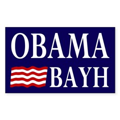 Obama-Bayh Bumper Decal