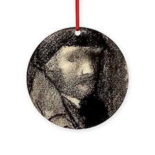 Self Portrait Sketch Ornament (Round)