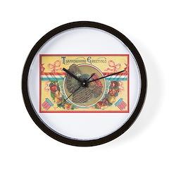 Turkey Sampler Wall Clock