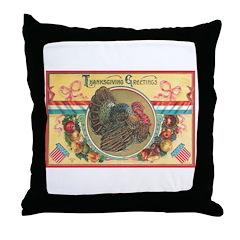 Turkey Sampler Throw Pillow