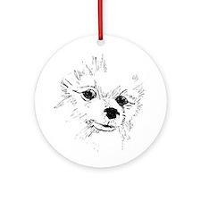 Pom Face Ornament (Round)