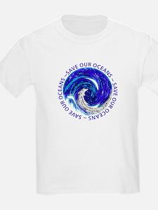Save Our Oceans (Chrome) T-Shirt