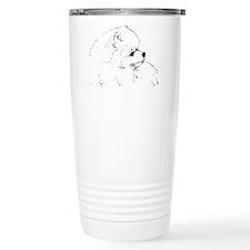 Pom Head 1 blk.&wh. Travel Mug
