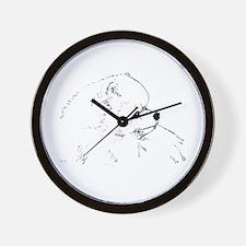 Pom Head 1 blk.&wh. Wall Clock
