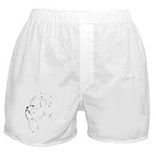Pom Head 2 blk.&wh. Boxer Shorts
