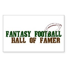 Fantasy Football Hall of Famer Rectangle Decal