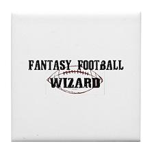 Fantasy Football Wizard Tile Coaster