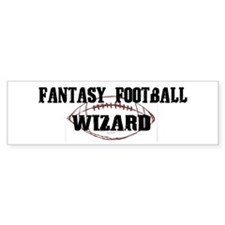 Fantasy Football Wizard Bumper Car Sticker