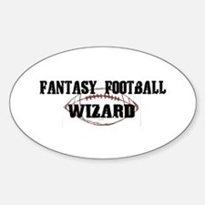 Fantasy Football Wizard Oval Decal