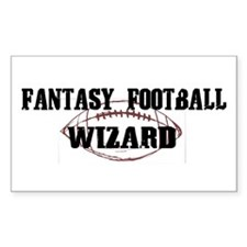 Fantasy Football Wizard Rectangle Decal