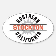 Stockton California Oval Decal