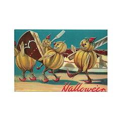 Halloween Pumpkins Rectangle Magnet (100 pack)