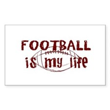 Football is my life Rectangle Decal