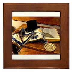 Worshipful Master Framed Tile