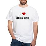 I Love Brisbane White T-Shirt