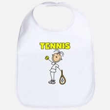 TENNIS Girl Stick Figure Bib