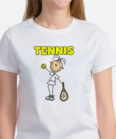 TENNIS Girl Stick Figure Women's T-Shirt