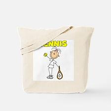 TENNIS Girl Stick Figure Tote Bag