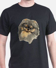 Pomeranian Black & Tan pencil T-Shirt